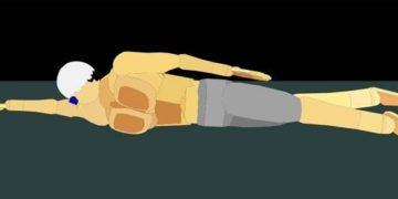 腰を浮かせる(抵抗の少ない体の形を作る)為のドリル3