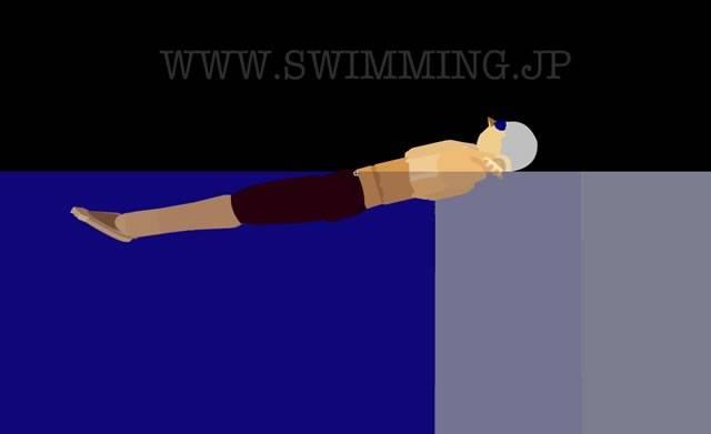 背泳ぎの泳ぎ方 リラックスして浮く