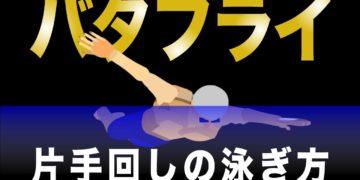 バタフライ 片手回しドリルの泳ぎ方(初級者向け)
