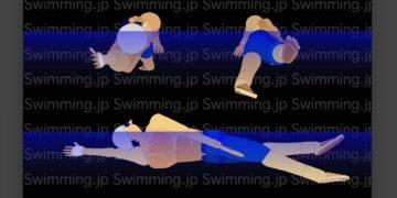 背泳ぎ 大きいローリングを意識した泳ぎ方