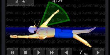 背泳ぎ 足が沈まないストロークと呼吸のタイミング